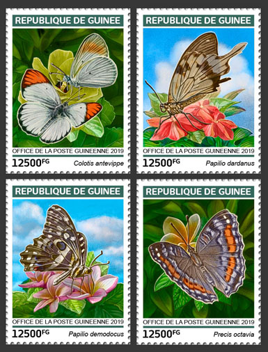 Butterflies - Issue of Guinée postage stamps