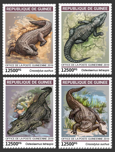 Crocodiles - Issue of Guinée postage stamps