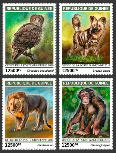 Endangered species - Issue of Guinée postage stamps