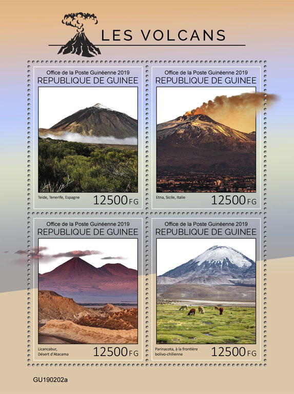 Volcanoes - Issue of Guinée postage stamps