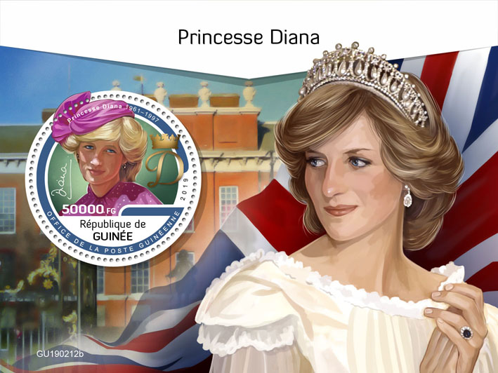 Princess Diana - Issue of Guinée postage stamps