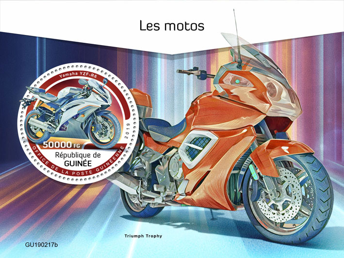 Motorcycles - Issue of Guinée postage stamps