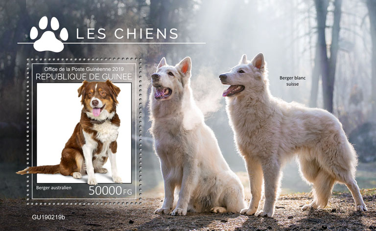 Dogs - Issue of Guinée postage stamps