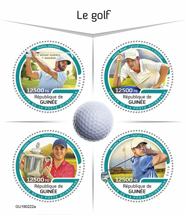 Golf - Issue of Guinée postage stamps