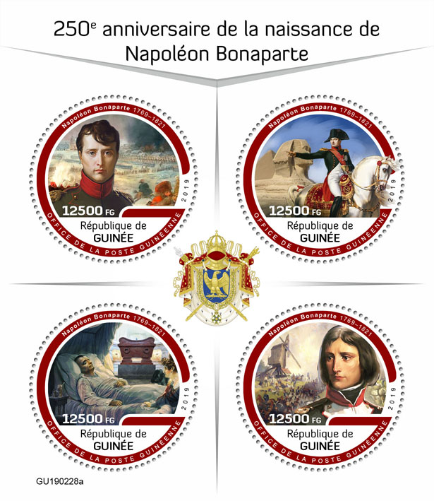 Napoleon Bonaparte - Issue of Guinée postage stamps