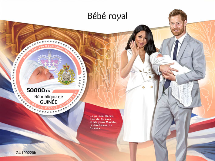 Royal baby - Issue of Guinée postage stamps