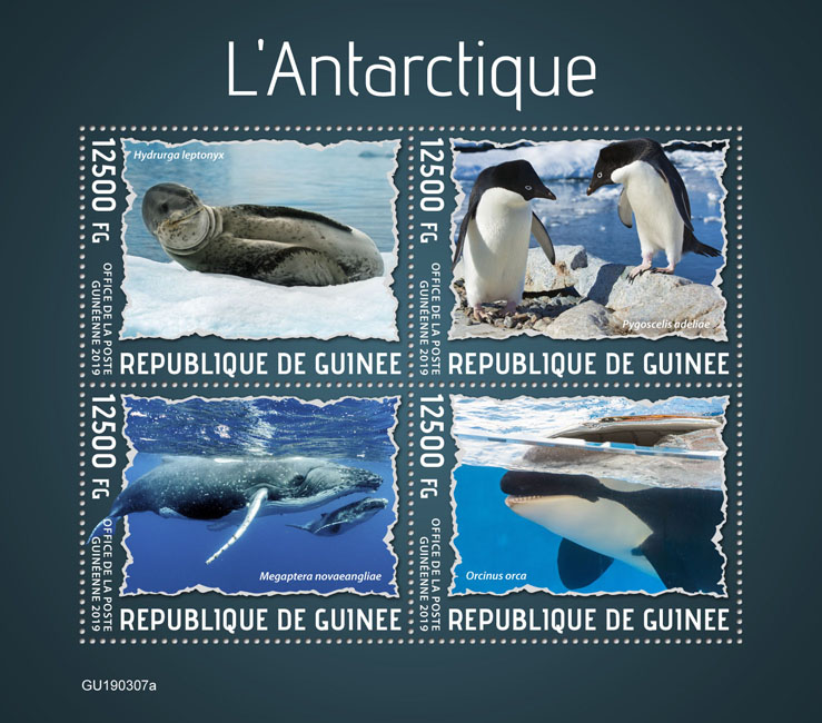 Antarctica - Issue of Guinée postage stamps