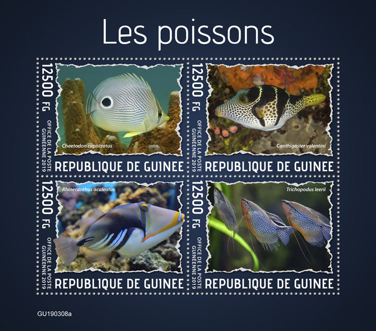 Fishes - Issue of Guinée postage stamps
