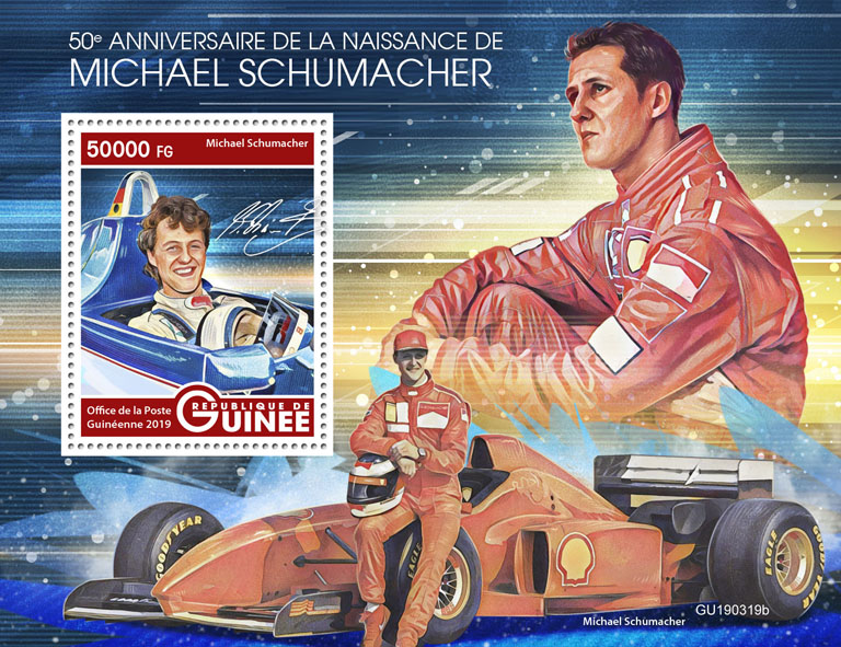 Michael Schumacher - Issue of Guinée postage stamps