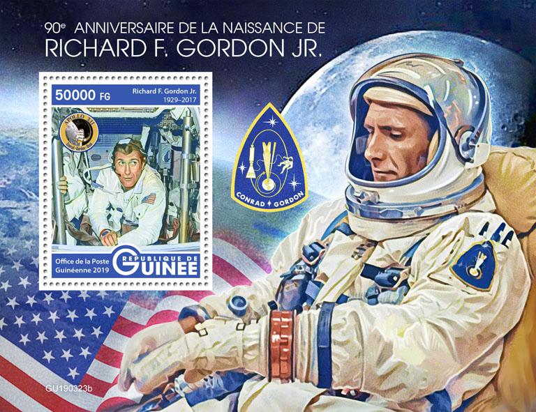Richard F. Gordon Jr. - Issue of Guinée postage stamps