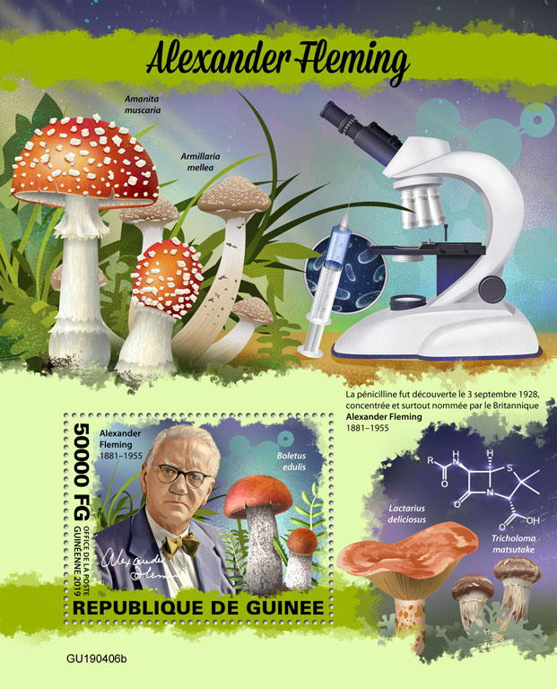 Alexander Fleming - Issue of Guinée postage stamps