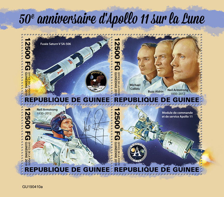 Apollo - Issue of Guinée postage stamps
